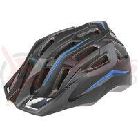 Casca ciclism Mighty Hawk negru albastru 58-62 cm
