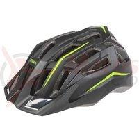 Casca ciclism Mighty Hawk negru verde 52-58 cm