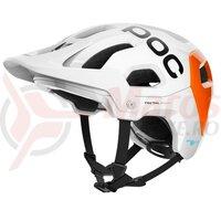 Casca ciclism POC Tectal Race Spin NFC SS 2021 Alb/Portocaliu