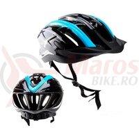 Casca ciclism Polisport Ride-In, neagra-albastra mat