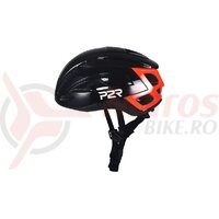 Casca copii P2R RODEO, black-red, matt & shine