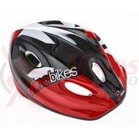 Casca Dino Bikes copii  Pro-Cross - negru-rosu