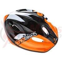 Casca Dino Bikes copii Raptor - portocaliu/negru
