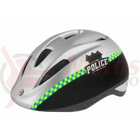 Casca Force Fun Police copii negru/argintiu