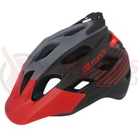 Casca Force Raptor MTB gri/rosu