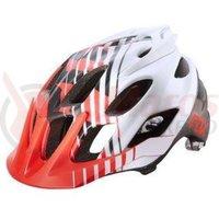 Casca Fox Mtb-Helmet Flux Savant Helmet red/white