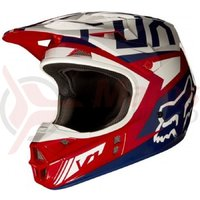 Casca Fox MX-Helmet V1 Falcon Helmet Ece red/white