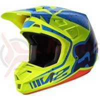 Casca Fox MX-Helmet V2 Nirv Helmet Ece yellow/blue