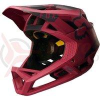 Casca Fox Proframe Moth helmet drk red