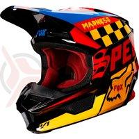 Casca Fox V1 Czar Helmet blk/ylw