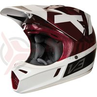 Casca Fox V3 Preest Helmet ECE white/red