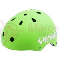 Casca Freestyle/BMX/Outdoor Yeah! verde mat