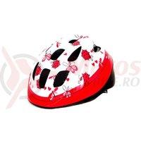 Casca HEADGY Ladybird alb/roz