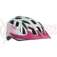 Casca LAZER J1 CE-CPSC/ Matte White Pink +NET +LED (21)