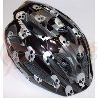 Casca Lazer Nutz ce skulls black grey