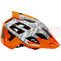 Casca Lazer Oasiz grey camo flash orange