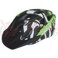Casca Limar 675 negru/alb/verde mat