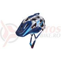 Casca Limar 949DR Matt Camo alb/albastru C