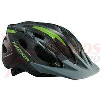 Casca Merida Shadow Black/Green 51-56 cm