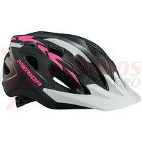 Casca Merida Shadow Black/Pink/White 51-56 cm