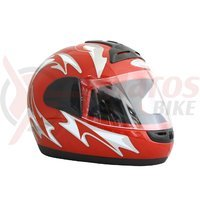 Casca moto Tornado T1 rosu/alb