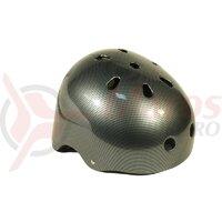Casca protectie - Altrix - DIRT/BMX, negru-gri, carbon design