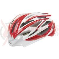 Casca Road MIghty rosu/alb/carbon L 55-58 cm