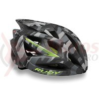 Casca Rudy Project Airstorm camo/galben fluo 59-61 cm