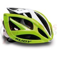 Casca Rudy Project Airstorm lime fluo/alb 59-61 cm