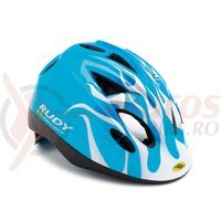 Casca Rudy Project Jockey albastru/alb 46-54 cm
