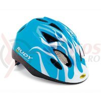 Casca Rudy Project Jockey albastru/alb 52-57 cm