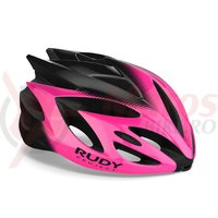 Casca Rudy Project Rush pink fluo/black