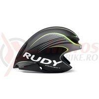 Casca Rudy Project Wing57 negru/galben fluo 54-58 cm+ lentile smoke