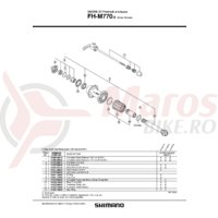Caseta Shimano FH-M770-S