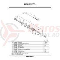 Caseta Shimano FH-M770-S incl. suruburi de fixare