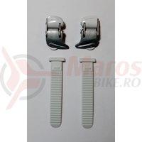 Catarama + Chinga pantofi ciclicm Shimano pentru SH-WM80 Argintiu/Alb