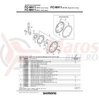 Chain guard Shimano FC-M411 & suruburi