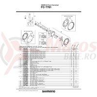 Chain guard Shimano FC-T781 48T & suruburi