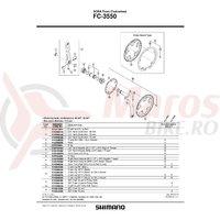 Chainguard Shimano FC-3550 46T & suruburi de fixare