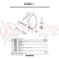 Cheie pentru nipluri Shimano WH-9000-C24-CL-F 3.75 (Mica)