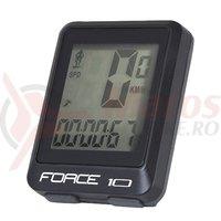 Ciclocomputer Force 10F cu fir negru