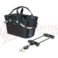 Geanta Basil CarryAll Racktime 2Day black, removable, 50x28x27cm