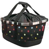 city bag KLICKfix Bikebasket GT dots, 33x27x42cm, for Racktime