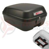 City box KLICKfix black 34.5x44x23cm w. Uni clip