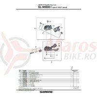 Colier prindere Shimano SL-M8000 ISPEC-II dreapta