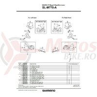 Colier prindere SL-M770 dreapta Shimano