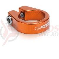 Colier pt tija de sa XLC PC-B05 orange 31.6 mm Alu