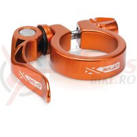 Colier pt tija de sa XLC PC-L04 34.9 mm orange QR