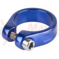 Colier sa M-Wave cu surub 31.8 mm albastru anodizat