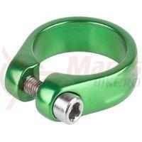 Colier sa M-Wave cu surub 31.8 mm verde anodizat